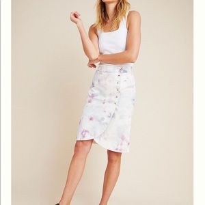 Anthropologie Kimmie Tie Dye Tulip Midi Skirt